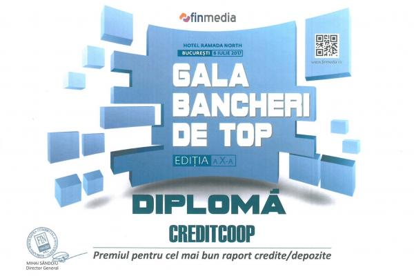 Diploma Bancherilor de Top - 2017