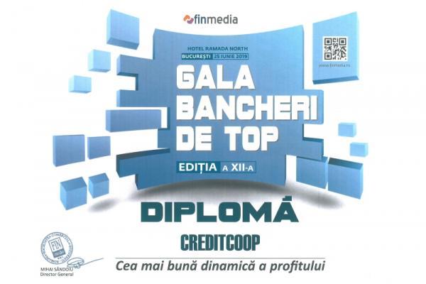 Diploma Gala Bancherilor de Top - 2019 Profit