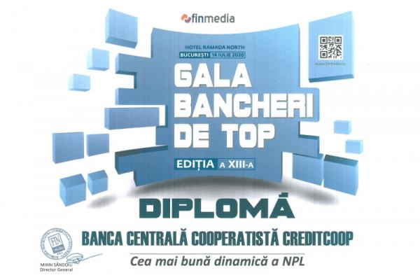 Diploma Gala Bancherilor de Top - 2020 NPL