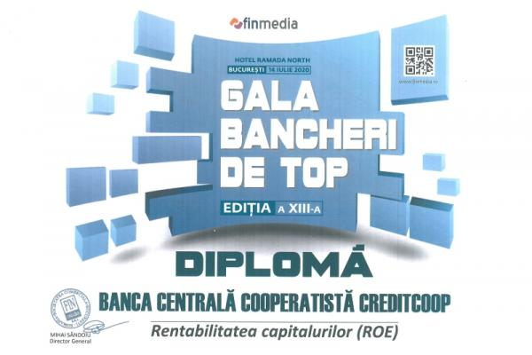 Diploma Gala Bancherilor de Top - 2020 ROE