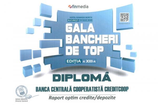 Diploma Gala Bancherilor de Top - 2020 RapCrdDep
