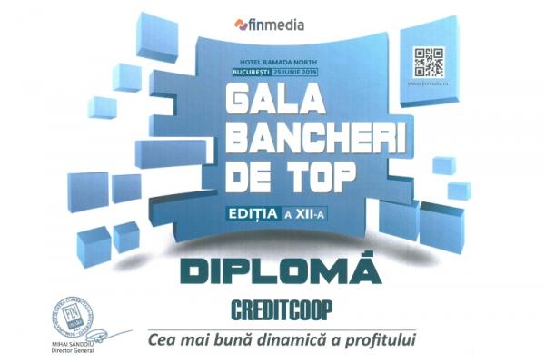 Diploma Gala Bancherilor de Top - 2019 Profit